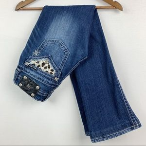 6 HR CCO SALE!* Miss Me Bootcut Animal Print Jeans